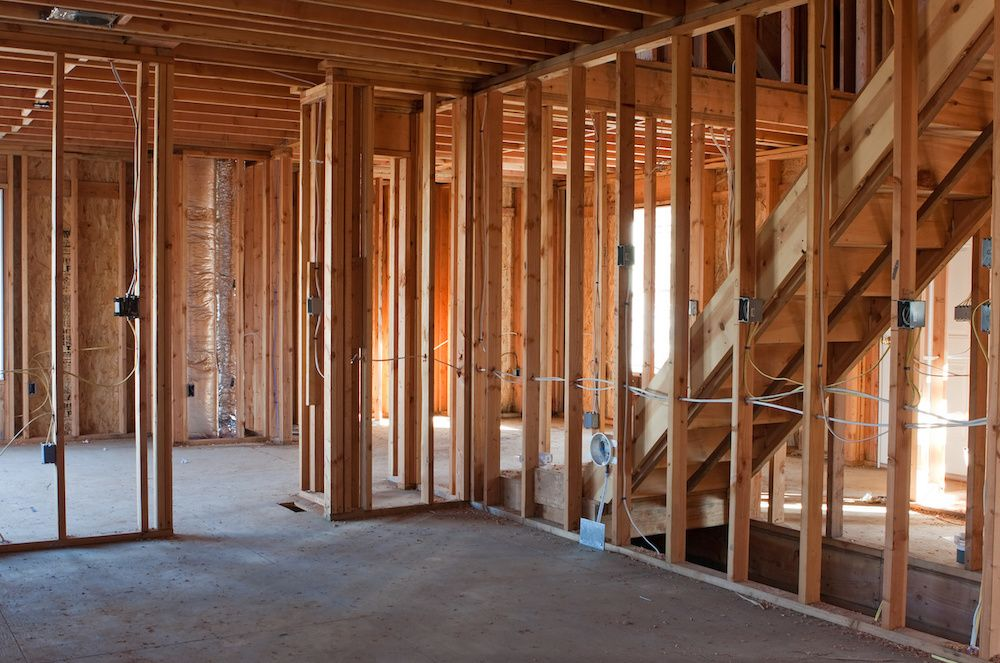pre-drywall inspection on new construction
