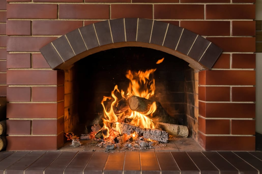 What a fireplace lintel is made of